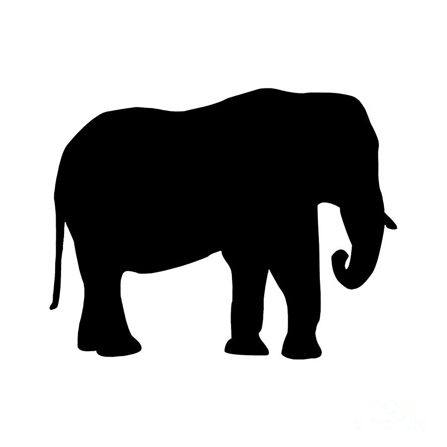 Elephant Black And White Clipart - Clipart Suggest