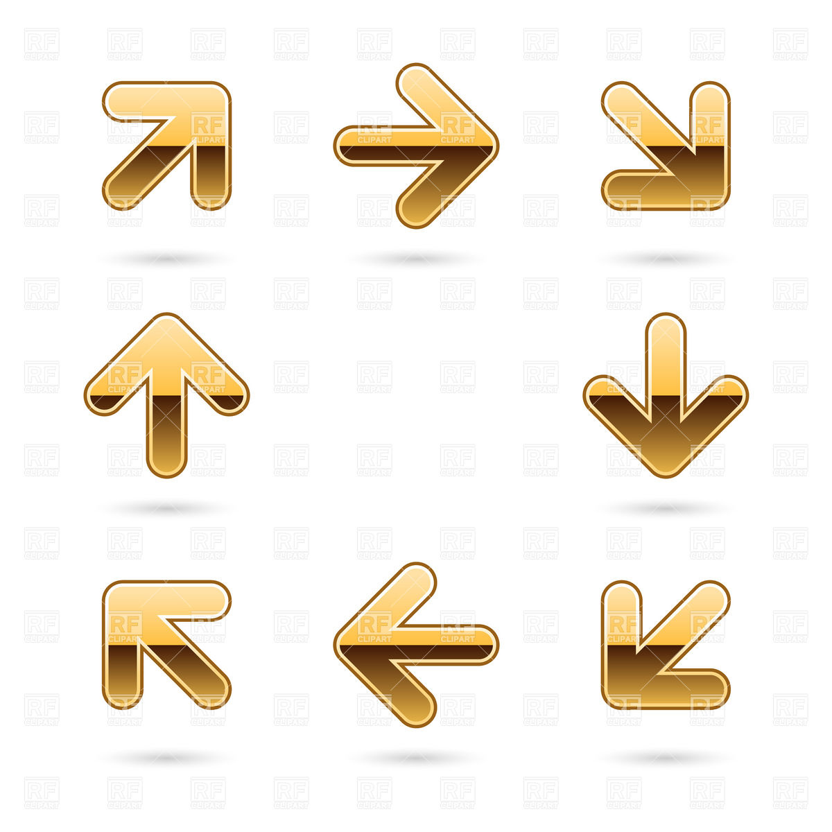 Circulation Arrow Set Download Royalty Free Vector Clipart  Eps