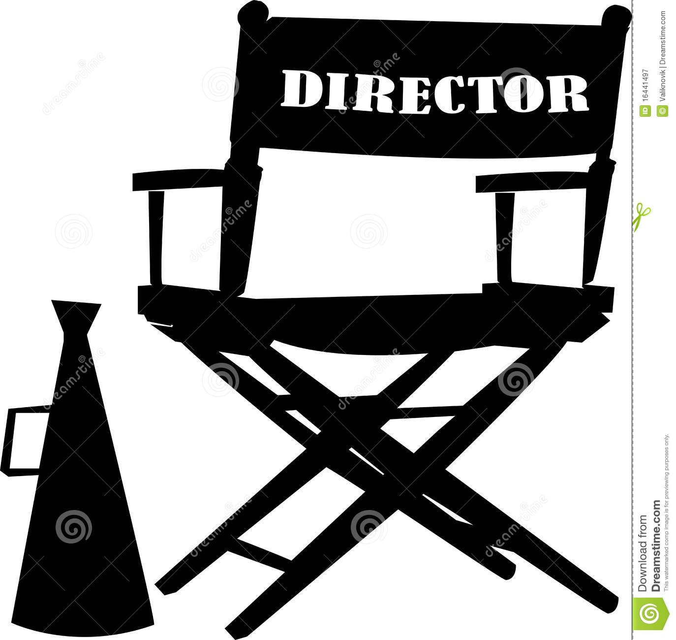Clip Art Images of a Director S Chair