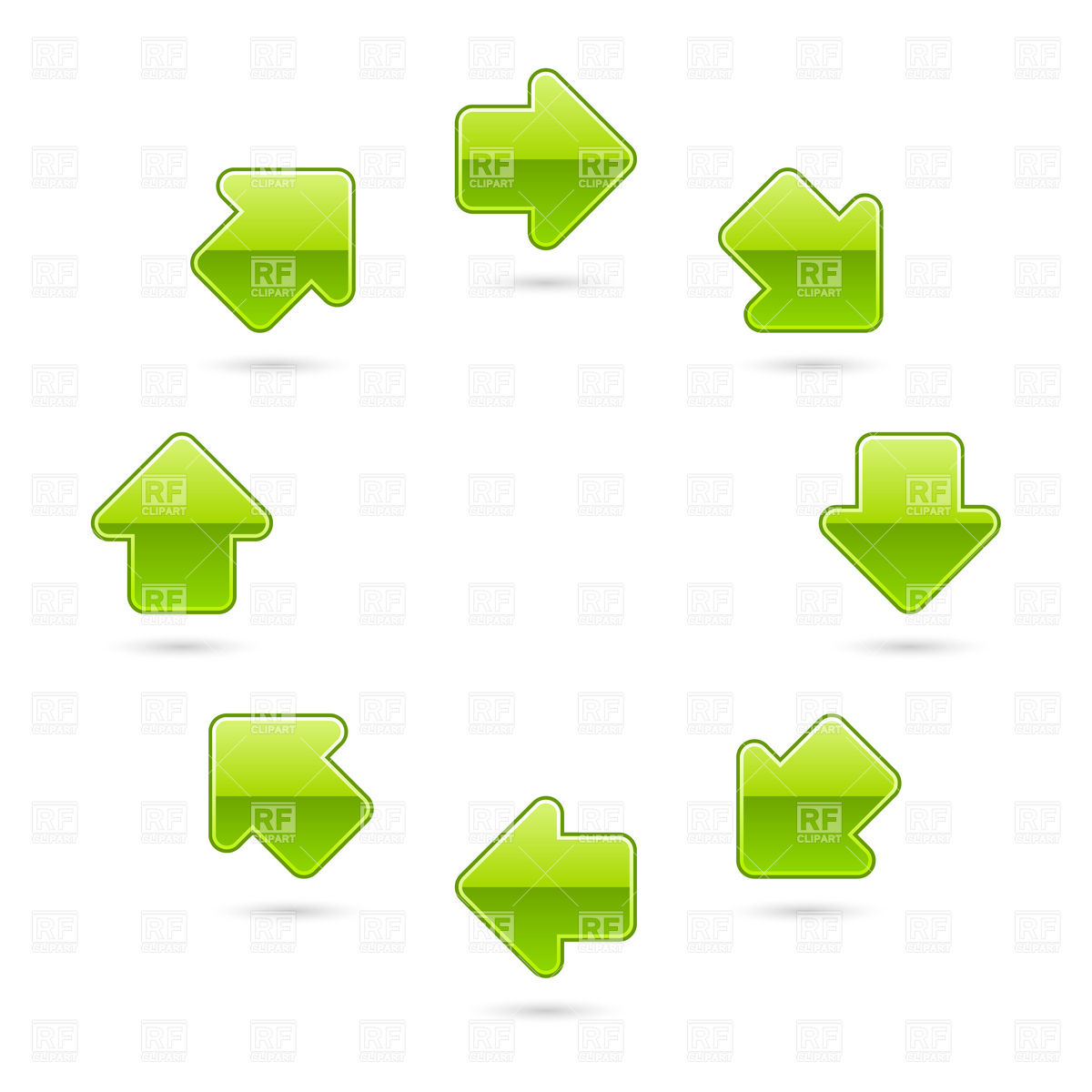 Green Arrow Circulation Download Royalty Free Vector Clipart  Eps