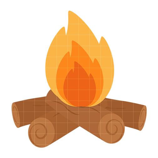 Clip Art Fire Log Clipart - Clipart Kid