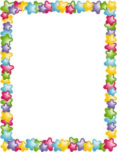 Page Border With Stars In Different Colors  Free Downloads At Http