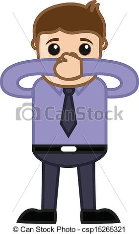 Quiet Hands Clipart Keep Quiet   Business Cartoon