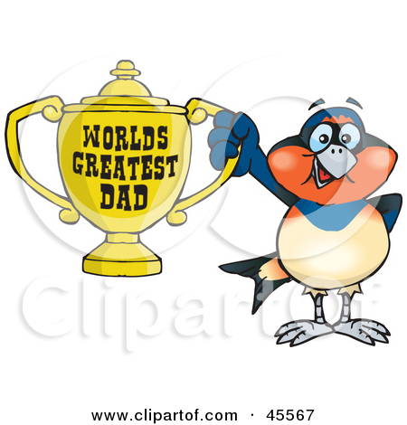 Royalty Free  Rf  Clipart Illustration Of A Swallow Bird Character