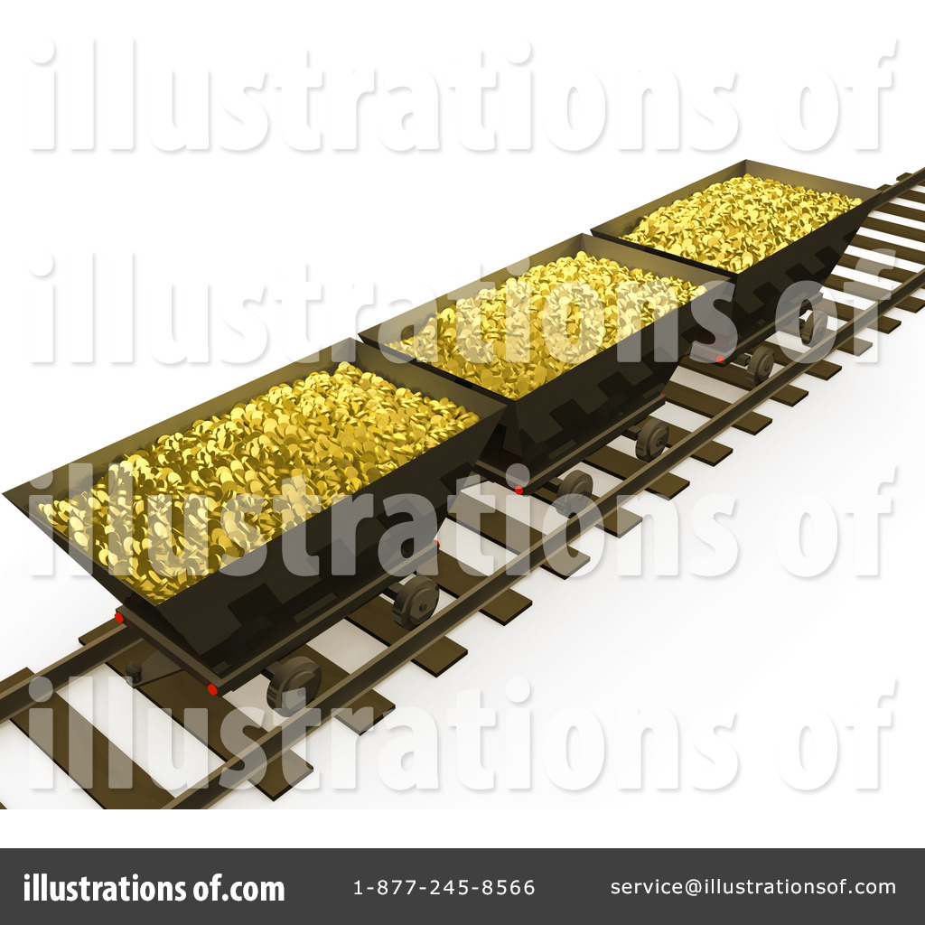 Royalty Free Rf Gold Mining Clipart Illustration By 3pod Stock Sample