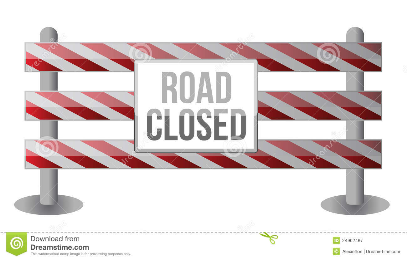 Road closed clipart suggest