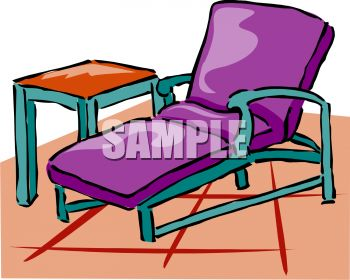 This Patio Lounge Chair Clipart Image Can Be Licensed As Part Of A