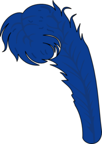 Blue Feather Clip Art At Clker Com   Vector Clip Art Online Royalty