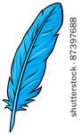 Blue Feather Clip Art Vector Free Vectors   Vector Me