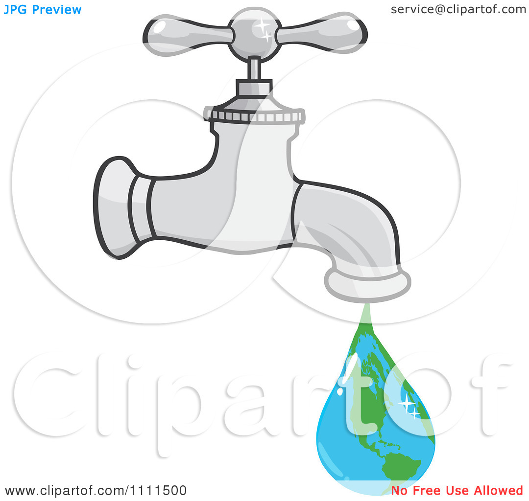 Clipart Water Faucet With An