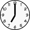 Digital Clock Clipart 7 00 7 00 Th Png