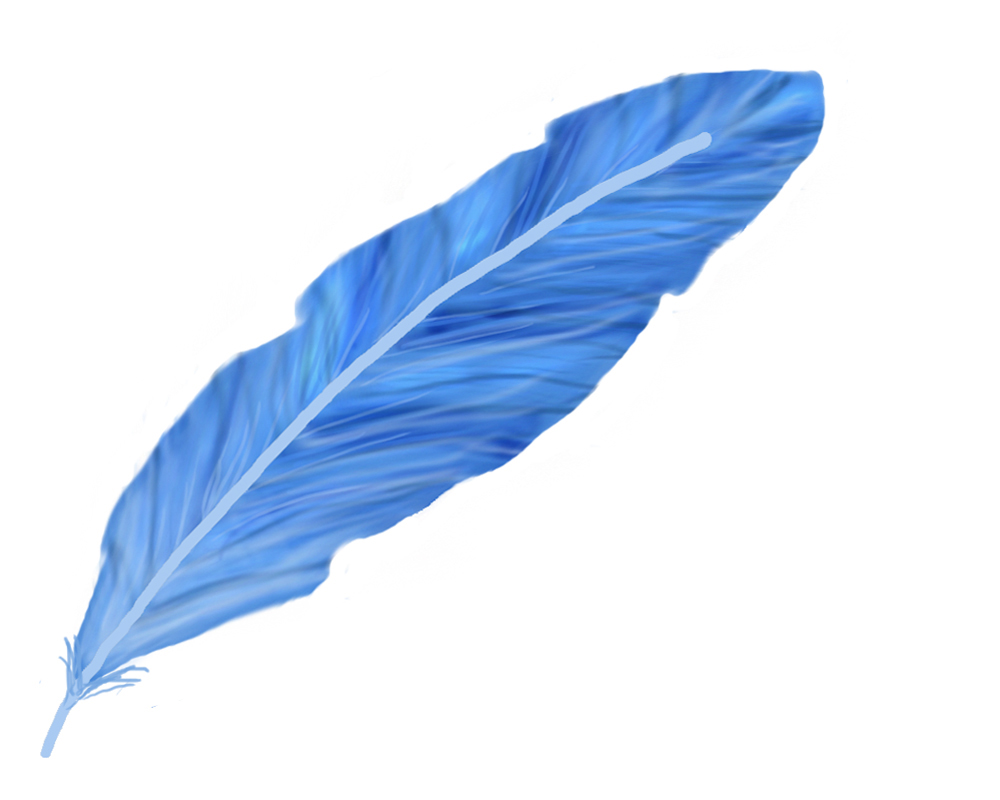 Blue Feather Clipart - Clipart Kid