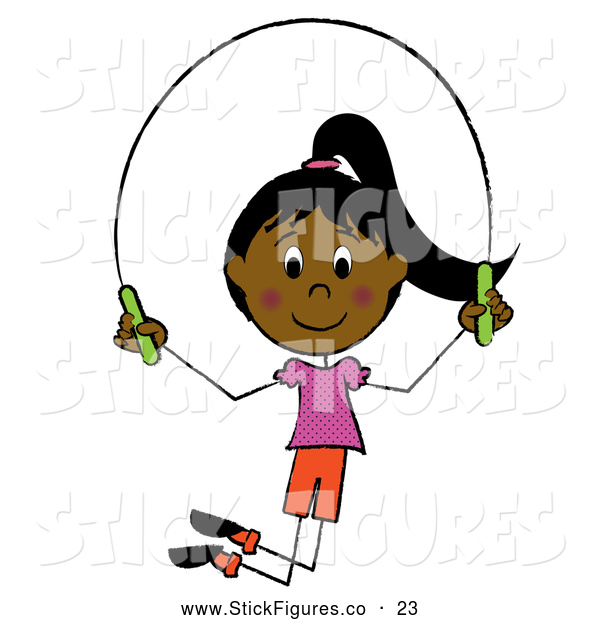 Little Girl Jumping Rope Stick Figure Clip Art Pams Clipart