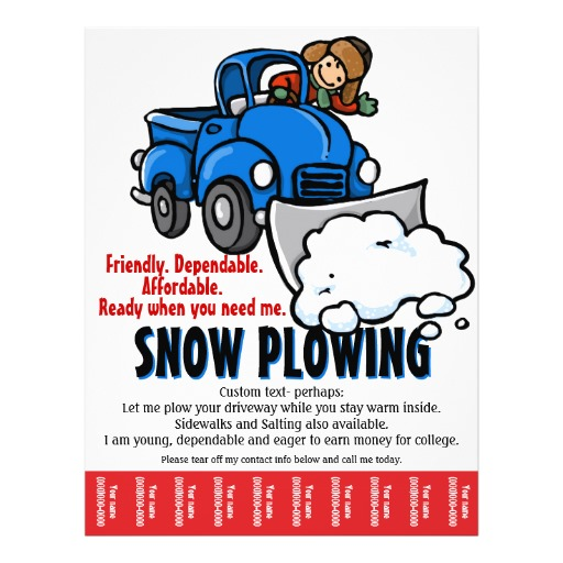 11  Snow Plow Flyers Snow Plow Flyer Templates And Printing   Zazzle