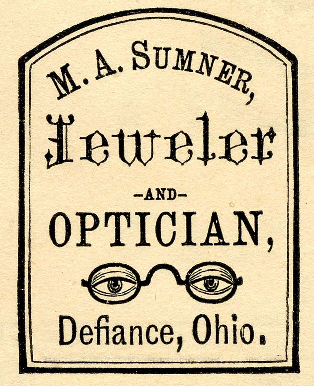 Antique Advertising Clip Art   Optician   Jeweler Label