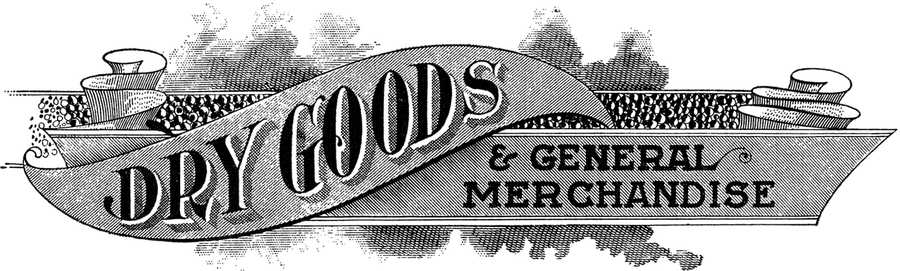 Antique Dry Goods Trade Sign    The Graphics Fairy