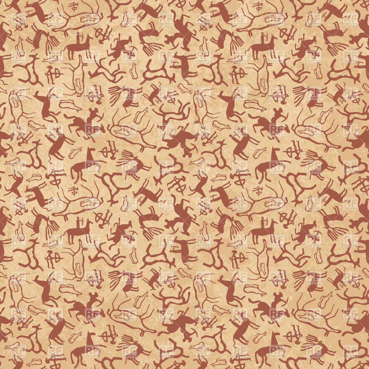 Cave Art Seamless Pattern Download Royalty Free Vector Clipart  Eps