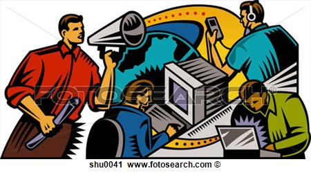 Clipart Of An Illustration Of Communication In The Workplace Shu0041