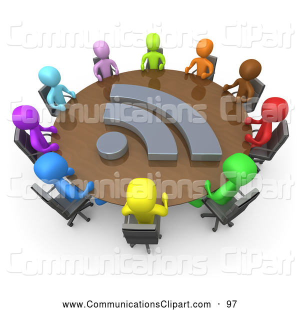 Communication Clipart Of A Diverse Ring Of Colorful Business People
