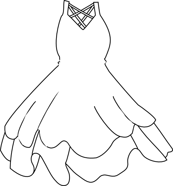 Dress Outline   Clipart Best
