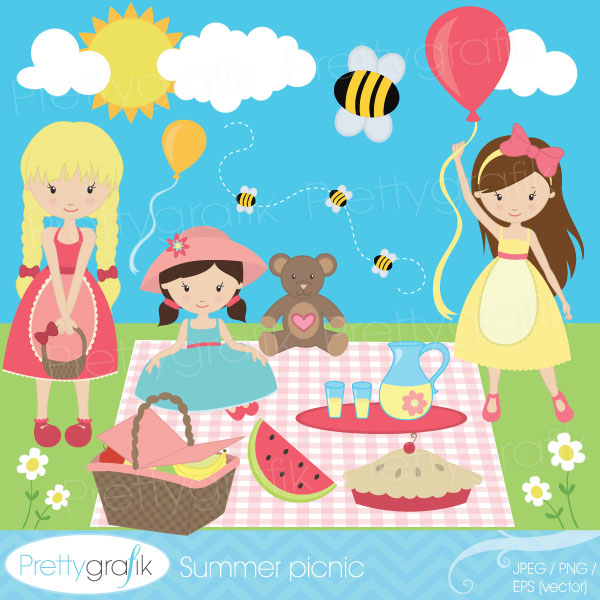 Get This Summer Picnic Clipart On Etsy Or Mygrafico