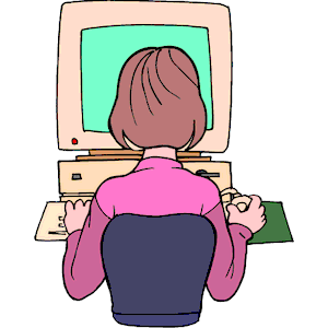 Girl At Computer 3 Clipart Cliparts Of Girl At Computer 3 Free