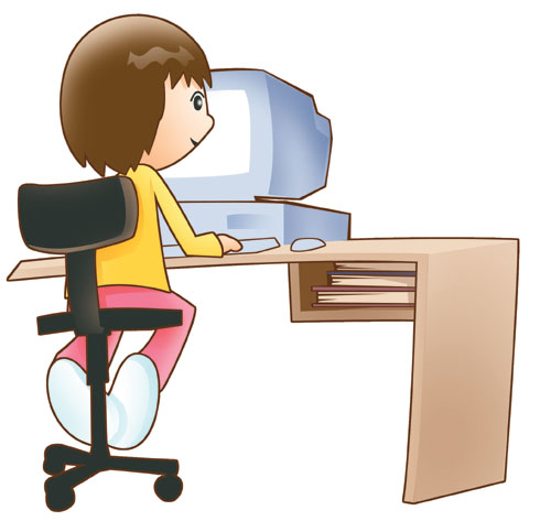 Girl On Computer Clipart Image Search Results