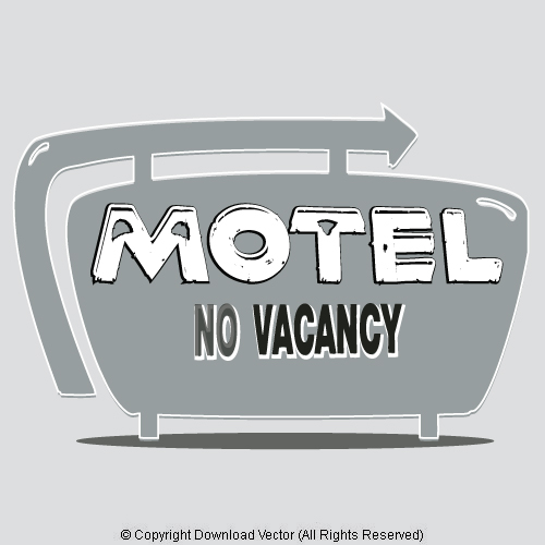 Home Vintage Signs Vintage Motel Sign Vector Clip Art 09871