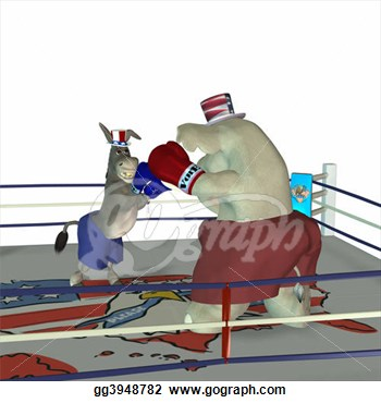 Illustration   Political Boxing 3  Clipart Illustrations Gg3948782