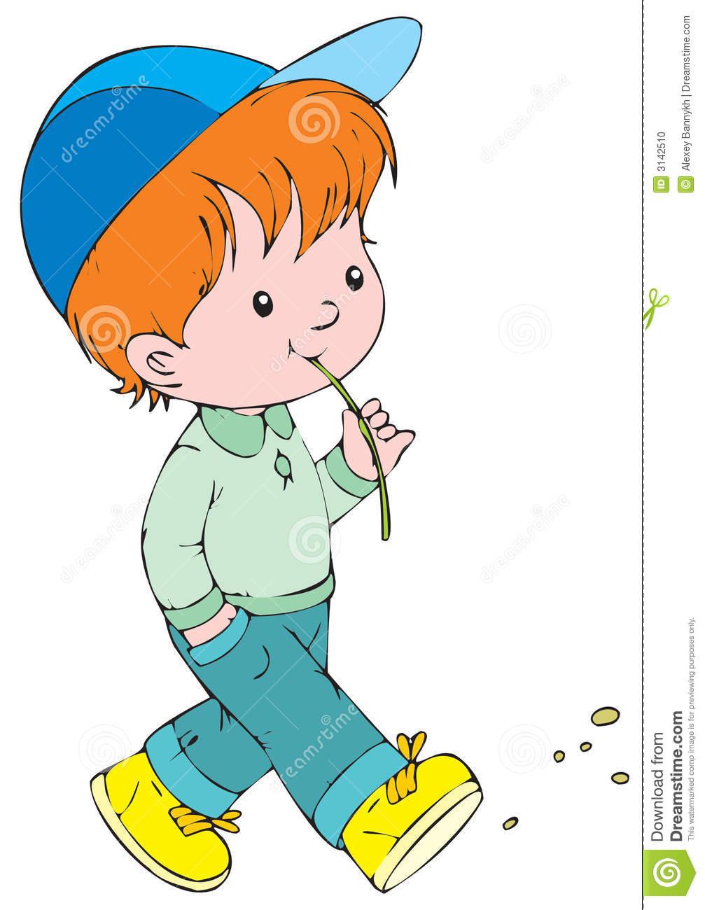 Boy Walking Clipart - ...