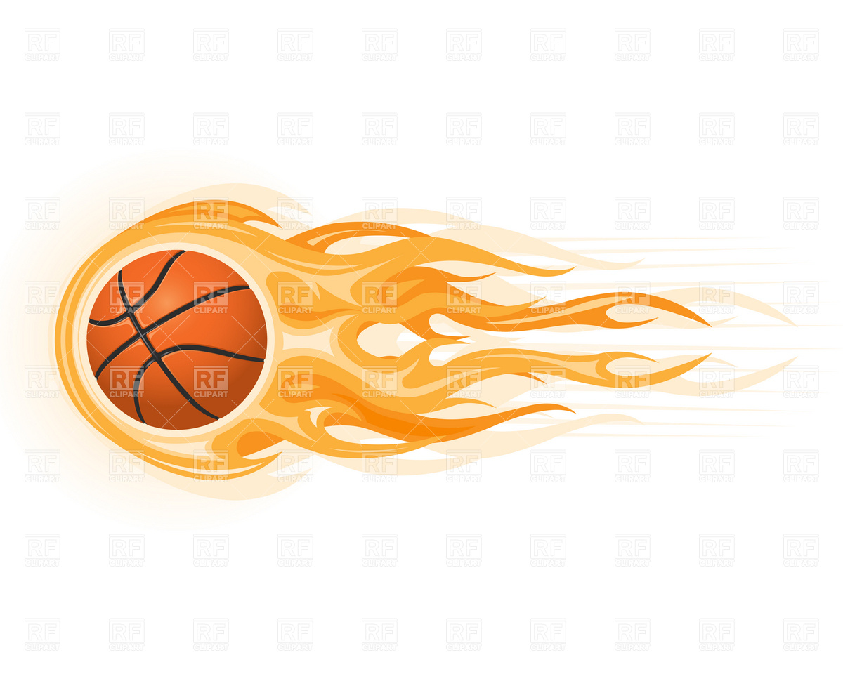 Basketball On Fire Clipart - Clipart Kid