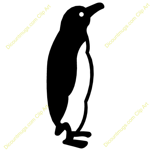 Black And White Penguin Clipart Winter Penguin Clip Art Black