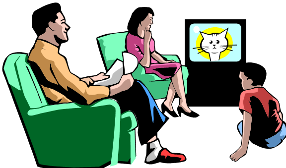 family watching tv clip art  u2013 cliparts