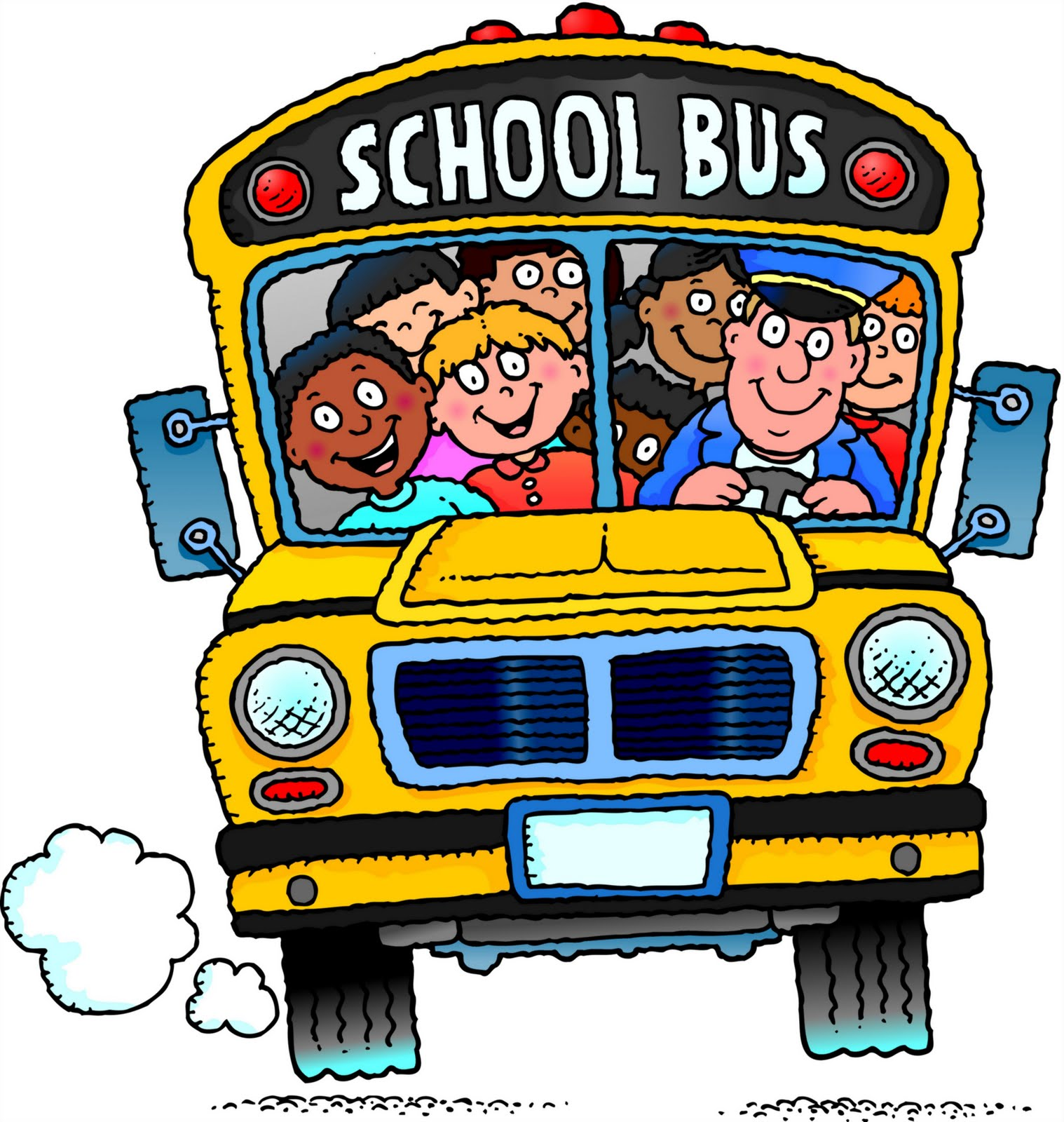Cartoon School Bus Cartoon School Bus With Kids School Bus Cartoon