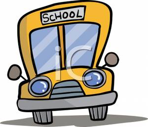 Cartoon School Bus   Royalty Free Clipart Picture
