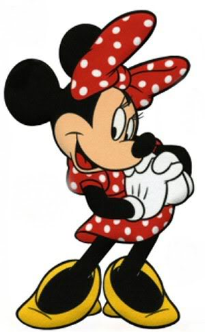 Clipart  Minnie Mouse In Red White Dress
