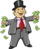 Clipart Of Rich Business Man With Money K9190613   Search Clip Art