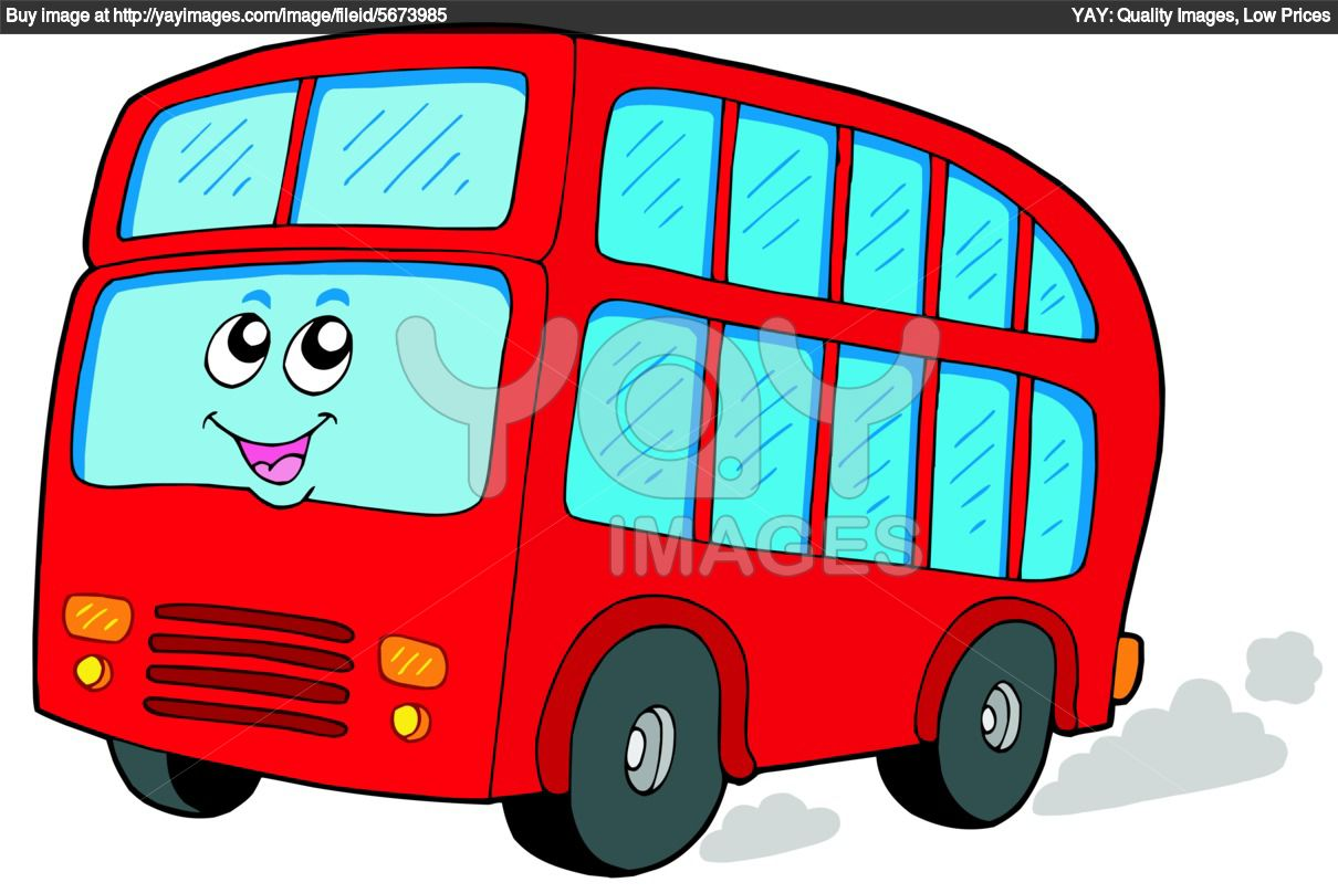 Cool Cartoon School Bus Clipart