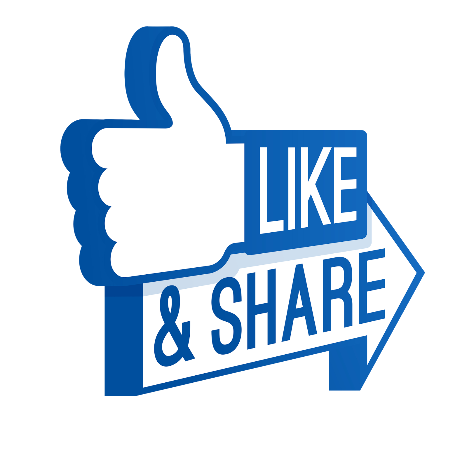 Facebook Like And Share Transparent Background