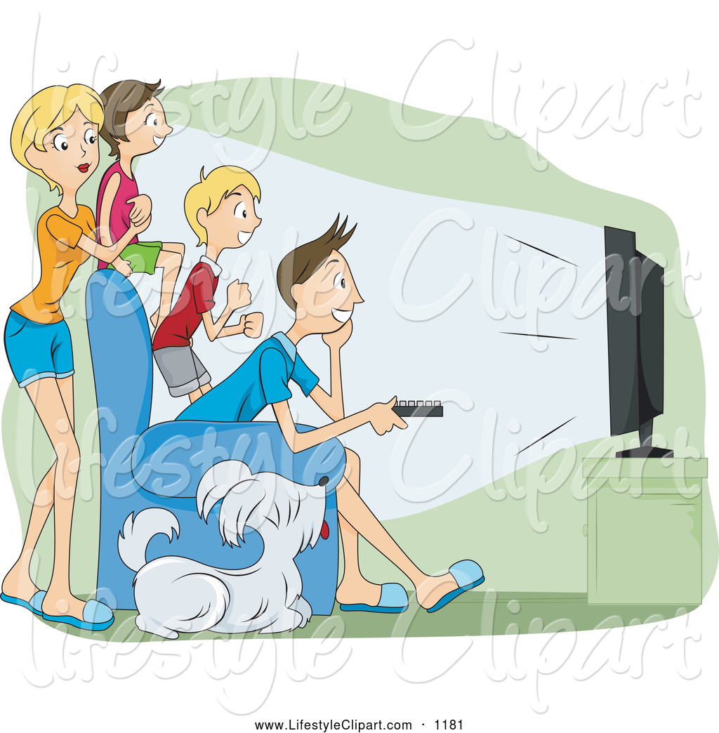 Family Watching TV Clip Art – Cliparts