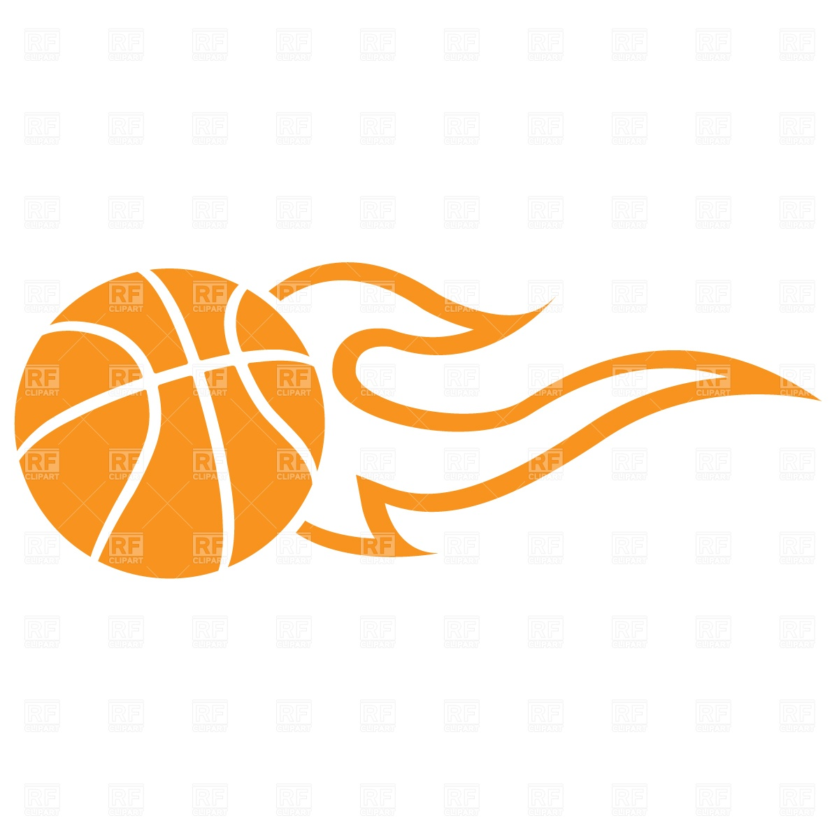 Flaming Basketball Ball 796 Download Royalty Free Vector Clipart