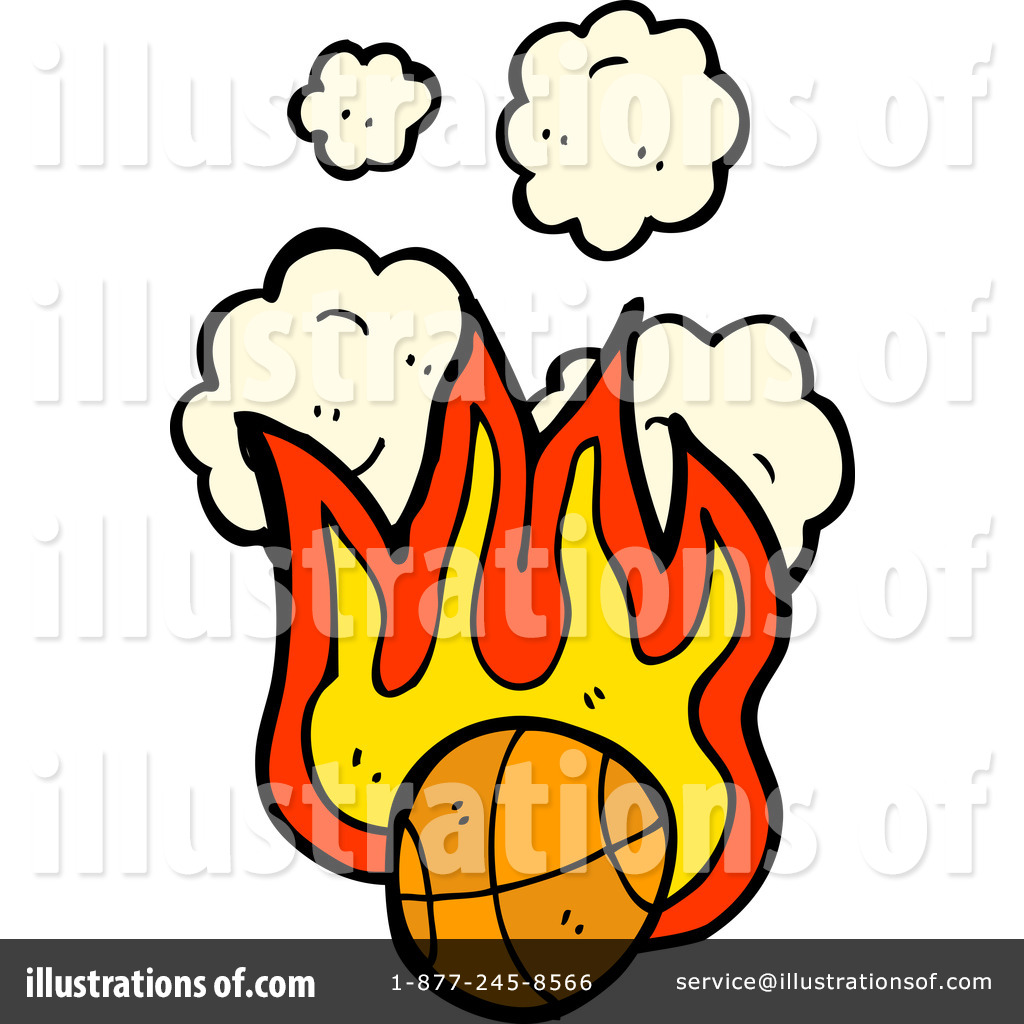 Flaming Basketball Clipart  1197699 By Lineartestpilot   Royalty Free