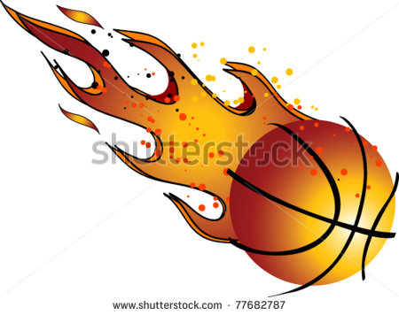 Flaming Basketball Vector Clip Art   Stock Vector