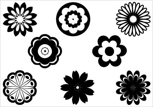 Flower Silhouette Clipart - Clipart Kid