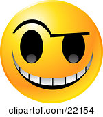 Free Evil Smiley Face Grinning Clip Art Illustration By 000123