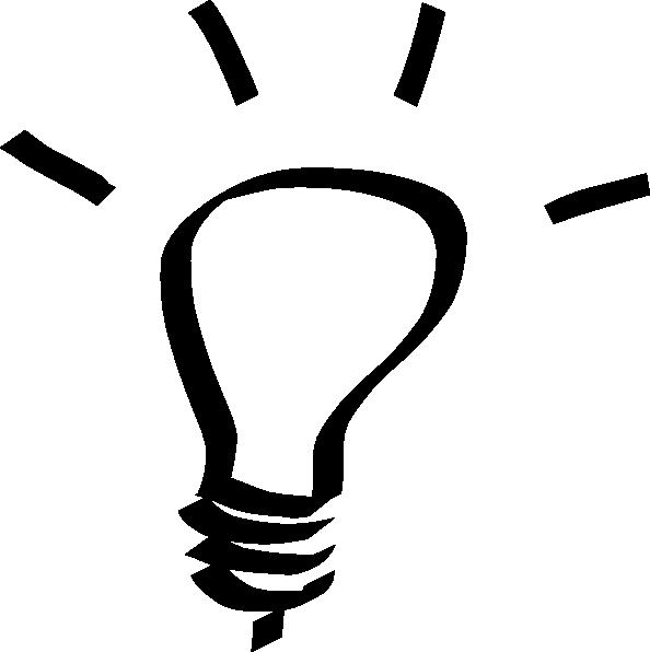 Lightbulb White Clip Art