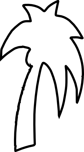 Palm Tree Outline Clip Art At Clker Com   Vector Clip Art Online