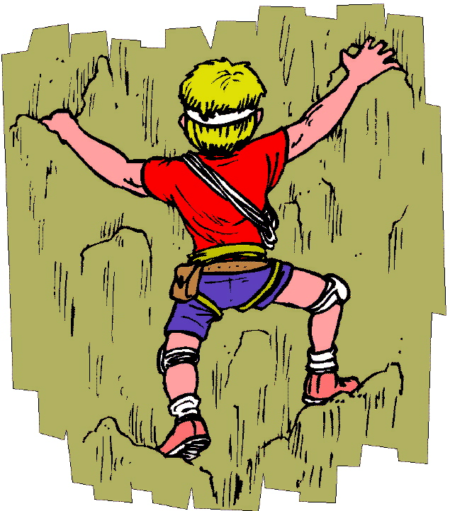 Rock Wall Climbing Clip Art   Erwinnavyanto In