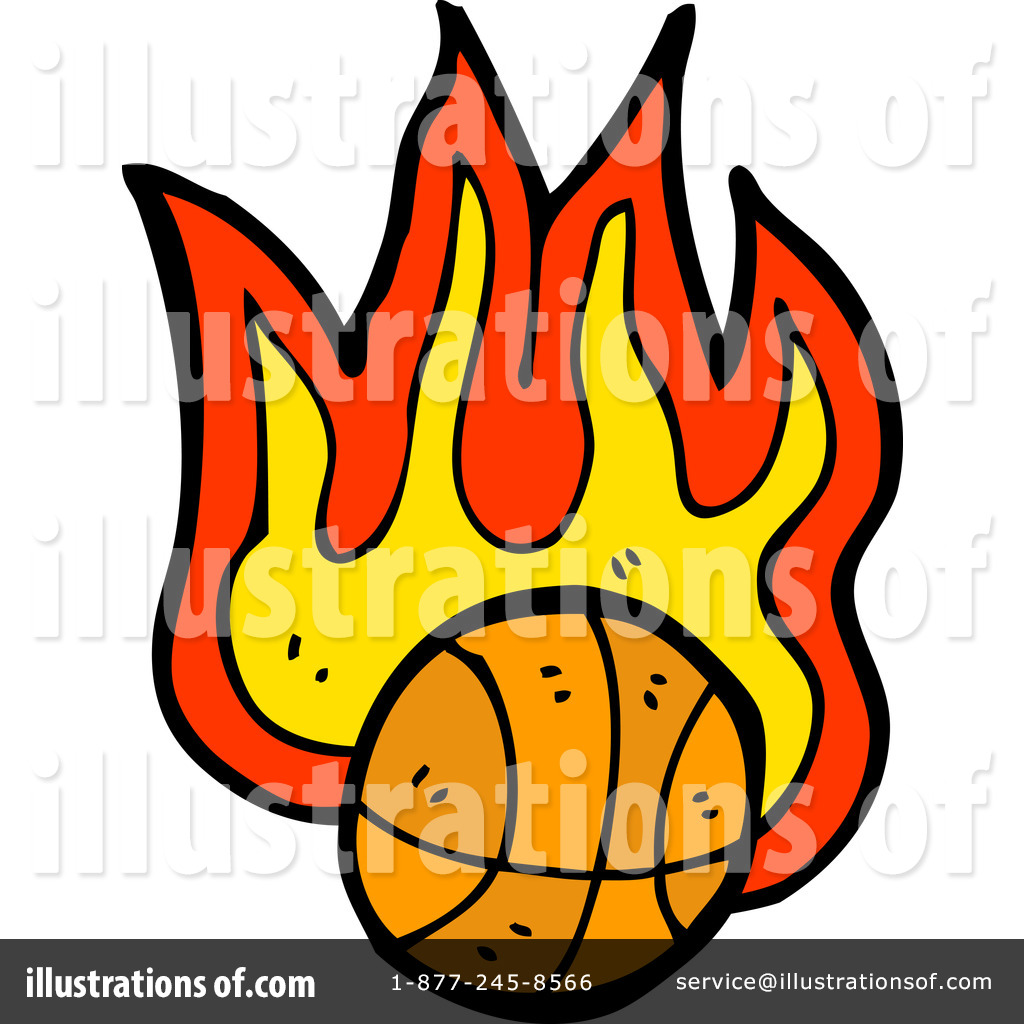 Royalty Free  Rf  Flaming Basketball Clipart Illustration  1197700 By