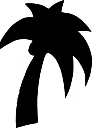 Shapes Palm Tree Clip Art Vector Free Vectors   Vector Me